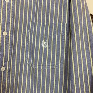 Blue and yellow pinstripe shirt in Great Condition